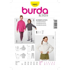 Coordinates Sewing Pattern Burda n°9482