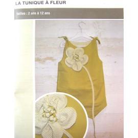 Patron Tunique à fleur de 2 à 12 ans
