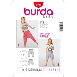 Patron Pantalon Burda n°9493