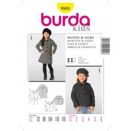 Coat & Jacket Sewing Pattern Burda n°9501