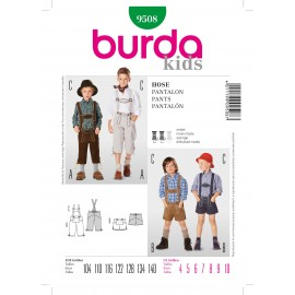 Patron Casquettes Burda n°9507