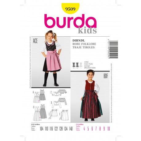 Folklore Dress Sewing Pattern Burda n°9509