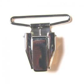 Pince bretelle nickelée 35mm