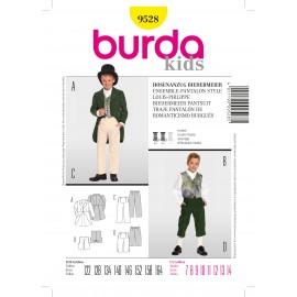 Patron Femme Ensemble-pantalon style Louis-Philippe Burda n°9528