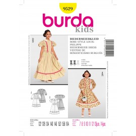 Louis-Philippe's style Dress Sewing Pattern Burda n°9529
