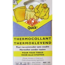 Thermocollant pour raccommoder sans coudre