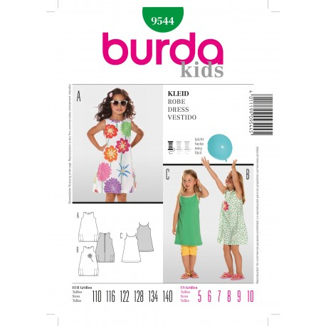 Dress Sewing Pattern Burda n°9544