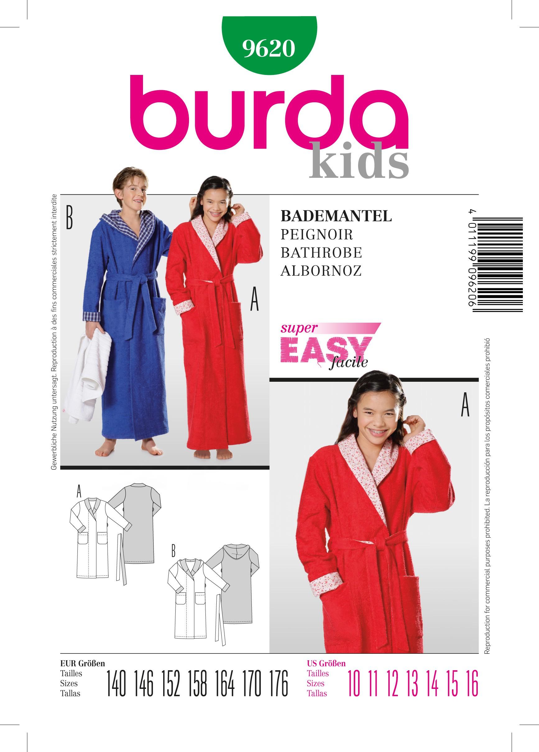 Burda Ma Peignoir N°9620 Patron Couture De 48RS8qw
