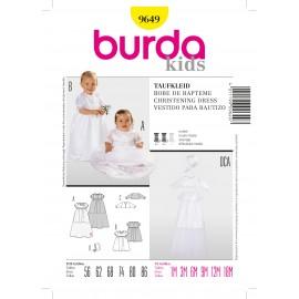 Patron Robe de baptême Burda n°9649