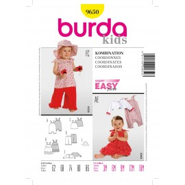 Coordinates Sewing Pattern Burda n°9650