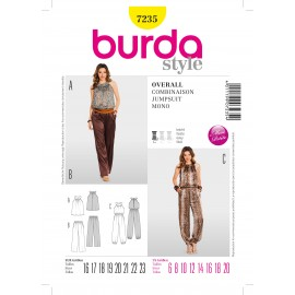 Patron Combinaison & Robe Burda n°7233
