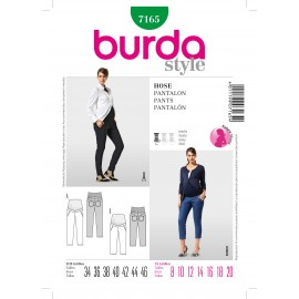 Pants Sewing Pattern Burda n°7165