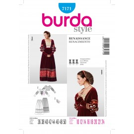 Renaissance Sewing Pattern Burda n°7171