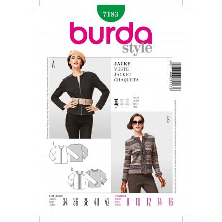 Patron Veste Burda n°7182