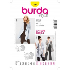 Patron Femme Veste Burda n°7184