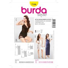 Patron Combinaison de lingerie Burda n°7186