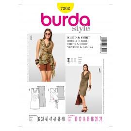 Patron Robe & T-shirt Burda n°7200