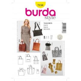 Patron Sacs Burda n°7158