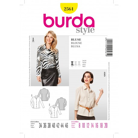 Blouse Sewing Pattern Burda n°2561