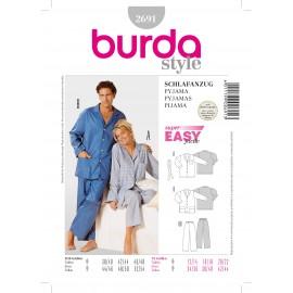 Patron Pyjama Burda n°2691