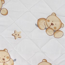 Baby Quilted Fabric nestor - Ivory x 10cm