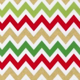 Remix chevron Metallic Holiday fabric x 10 cm