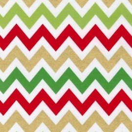 Tissu Remix chevron Metallic Royal x 10 cm