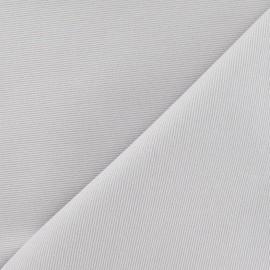Tissu piqué de coton baby gris x 10cm