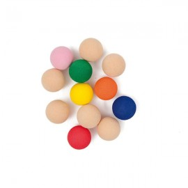 12 Rubber balls 20 mm - multicolored