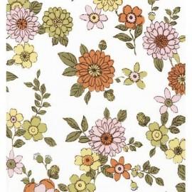 Tissu LENNOX GARDENS ROSE x 30 cm
