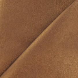 Simili cuir Nilo marron glacé métallisé x 10cm