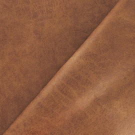 Leather upholstery fabric Colorado Old-looking Aspect - Camel x 10cm