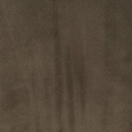 Tissu velours ras Tornado brun x 10cm