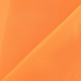 ♥ Coupon 300 cm X 145 cm ♥ Tissu Mousseline orange fluo