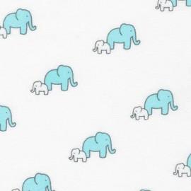 Flannel fabric Little Safari - Aqua x 10cm