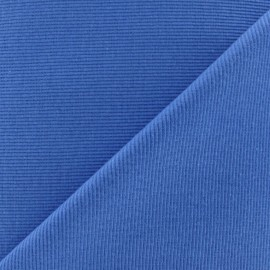 Knitted Jersey 1/2 tubular edging fabric x 10 cm - steel blue