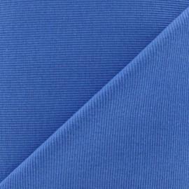 Tissu maille tubulaire bleu acier x 10cm