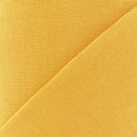 Tissu maille tubulaire jaune moutarde x 10cm