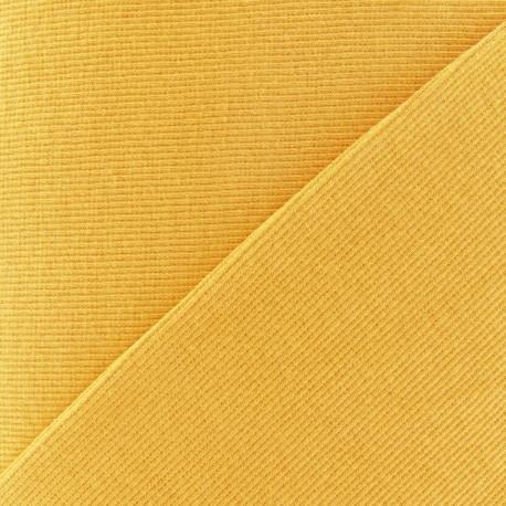Knitted Jersey 1/2 tubular edging fabric x 10 cm - mustard yellow