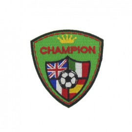 Champion Soccer iron-on applique - green