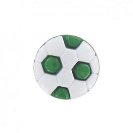 Bouton polyester ballon football vert