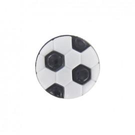 Bouton polyester ballon football noir