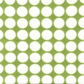 Tissu Flanelle Cozy Cotton Celery petits pois blanc x 10cm