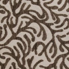 Tissu velours ras Broni marron x 10cm