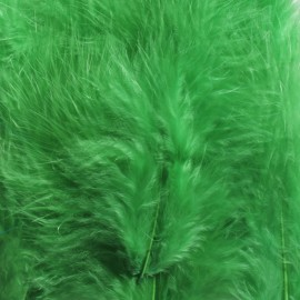 1 pack of 12 mini feathers - green
