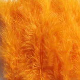 1 pack of 12 mini feathers - orange