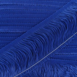 Charleston fringe 10cm x 50cm - royal blue