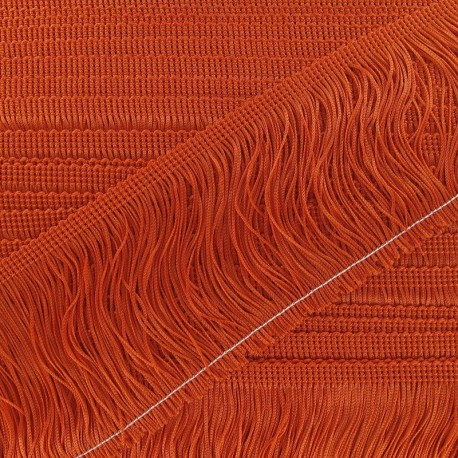 Charleston fringe 10cm x 50cm - orange