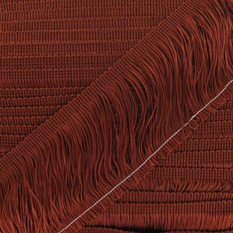 Charleston fringe 10cm x 50cm - copper