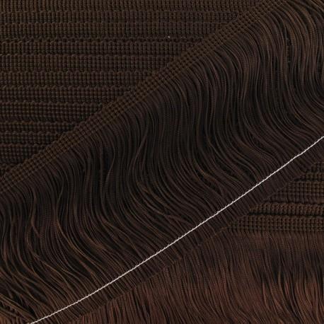 Charleston fringe 10cm x 50cm - brown